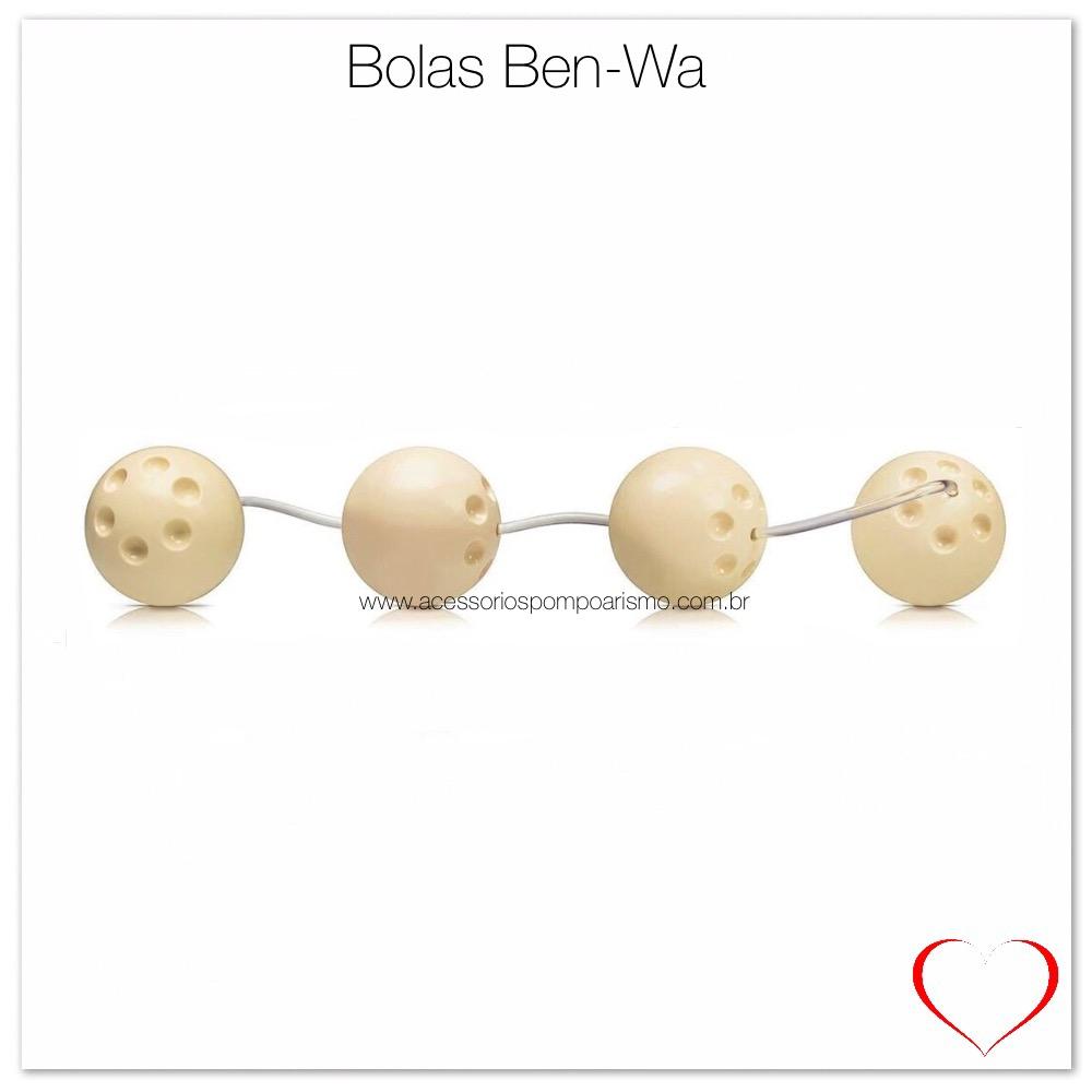 Bola Ben Wa bege composta por 4 unidades para Exercitar os Músculos do Assoalho Pélvico e Aumentar a Força Muscular